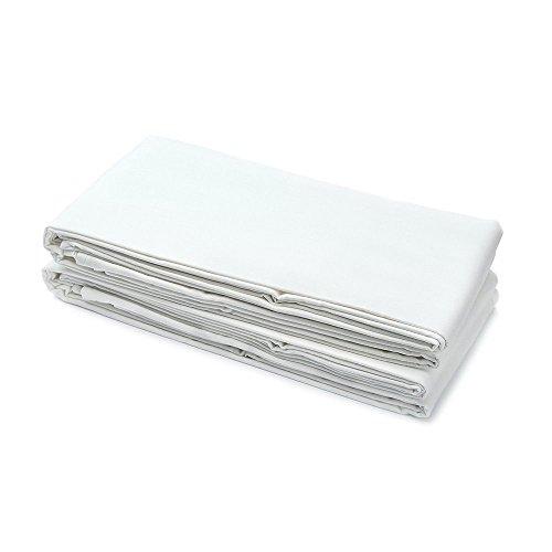 USA made–Spannbettlaken für Twin XL, Etagenbett, Wohnheim, und Krankenhaus Matratzen–96,5x 203,2cm X 91/5,1cm–50/50Mischgewebe Baumwolle/Polyester, weiß, Twin