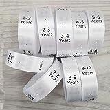 Envío gratis niños tamaño etiquetas/nueva ropa bebé tamaño etiqueta/NB 0-3m 3-6m 6-9m 9-12m etiquetas de tamaño/etiqueta de seda personalizada 100 unids a lot-24M 100 unids