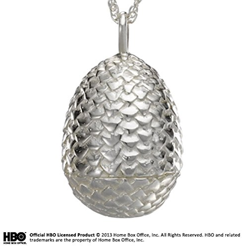 Noble Collection Game of Thrones Dragon Pendentif en Oeuf – Argent 925