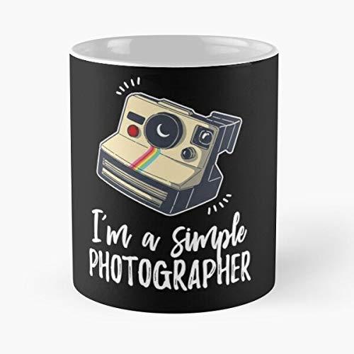 Polaroid Record Camera Cinema Amateur Best Mug holds hand 11oz made from White marble ceramic