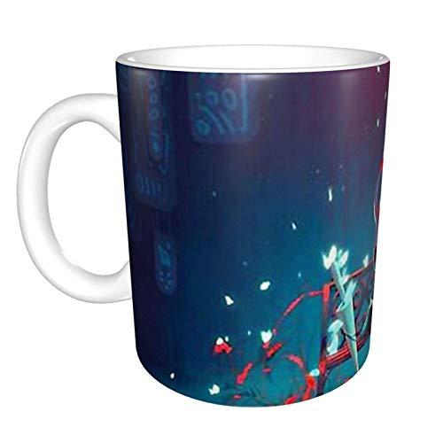 Hollow Knight Bhutan - Taza de café de cerámica, para té caliente o bebidas heladas, taza de gran capacidad, color blanco