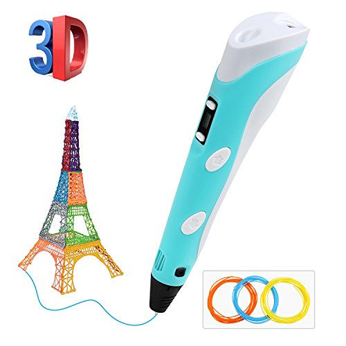 BelleStyle 3D Stylo, Impression 3D Stylo pour Enfant Pen Imprimante à Peindre Impression Stéréoscopic Printing Pen avec PLA & ABS Filament Multi-Couleur pour Artisanat 3D Enfant Cadeaux de Noël