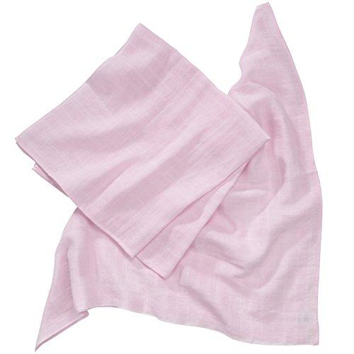 wellyou, Baby-Windeln rosa, 2er Set, Stoff-Windeln, Multifunktions-Tuch für Mädchen, Spuck-Tücher, in 80x80, 100% Baumwolle