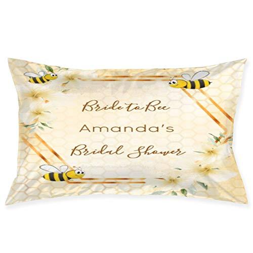 Despedida de Soltera Bride To Bee Honeycomb Bumble Bees 100% Fibra de poliéster Sueño de Belleza, Debido a una Funda de Almohada para el Cabello y la Cara saludables 20 Pulgadas * 30 Pulgadas