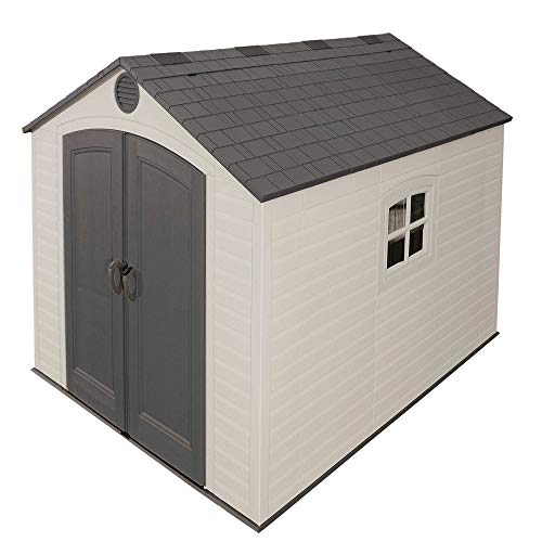 Lifetime 6405 Outdoor Storage Shed with Window, Skylights, and Shelving, 8 by 10 Feet -  Lifetime Products