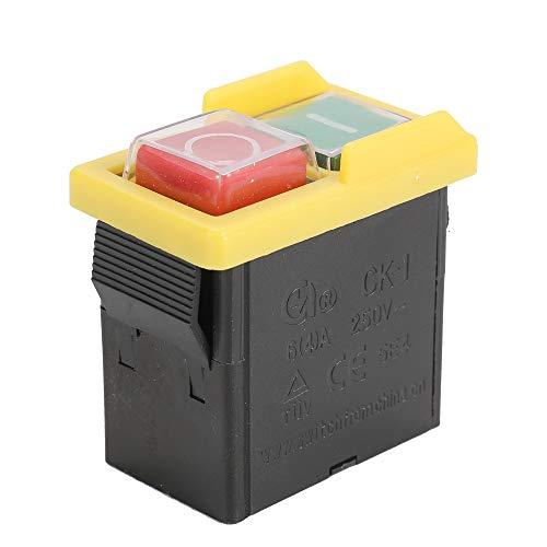 KKmoon Sicherheitsschalter,CK1 / 250V Not-Aus Sicherer Schalter Wasserdichte und Staubdichte Schalter Elektromagnetischer Schalter für Schleifmaschine Universal