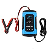 Fanaticalpurchasejp バッテリー 充電器 12V専用 自動車 バイク カーバッテリー 電動自転車 カー用品 メンテナンス用品 完全にインテリジェントな修復タイプの鉛蓄電池充電器 …