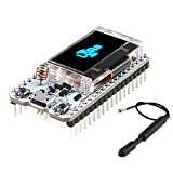 MakerHawk Módulo ESP32 LoRa SX1276 868 915MHZ Módulo Wifi Placa IoT Dual Core 240MHz CP2102 Bajo consumo de energía con pantalla OLED de 0,96 pulgadas y antena para Arduino