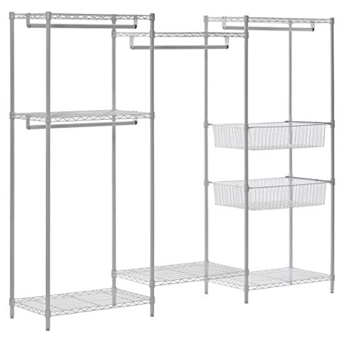 Muscle Rack Wire Steel Closet System Organizer White