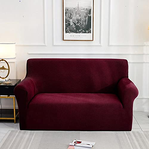 Funda de sofá Jacquard para Sala de Estar, Funda de sofá elástica elástica, Funda seccional para sofá, Protector de Muebles, A4, 3 plazas