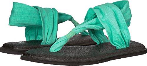 Sanuk Women's Yoga Sling 2 Solid Vintage Sandal, Opal, 7
