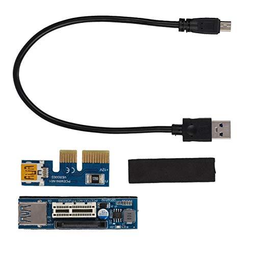 Astibym Extensión PCI-E 1X Extensor PCI portátil Extensor USB de alimentación Cable...