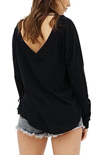 trueprodigy Casual Mujer Marca Camiseta Manga Larga Basico R