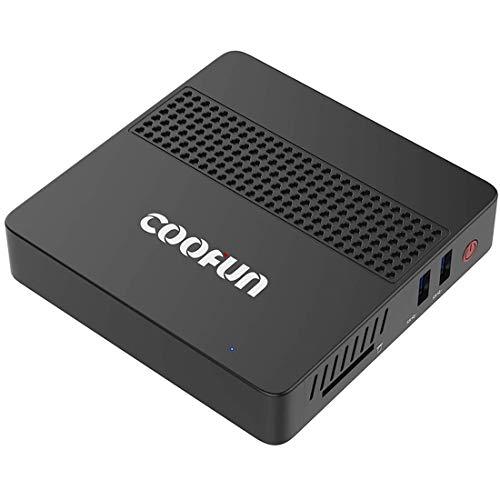 COOFUN Desktop Mini PC Intel Apollo Lake Celeron J3455 Processor (up to 2.3GHz),6G DDR3/SSD 128GB Windows 10 Pro HDMI&VGA Display 2.4G+5G Dual WiFi USB 3.0/BT 4.2 Support Linux, WOL and PXE Boot
