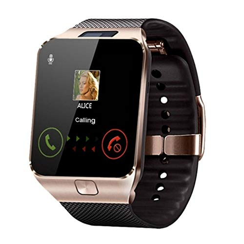 XUEXIU Smart Watch Relogio Android SmartWatch Teléfono Fitness Reloj Smart Relojes Subwoofer Mujeres Hombres (Color : Gold)