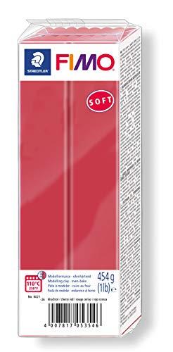 STAEDTLER-8021-26 ST Pasta de modelar de endurecimiento al horno, Color rojo cereza, (8021-26)