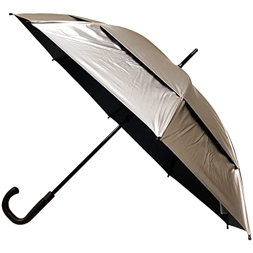 48 Inch UV Protection Umbrella - Automatic Open Fashion Stick Golf Umbrellas for Rain, Sun & Wind Protection - UPF 55+ XL Oversized Vented Double Canopy Effectively Block 99% of UVA UVB Light
