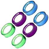 Kisangel 6 vasos de esponja, humidificadores de dedos, para papel, para escritorio, para contar, documentos, color aleatorio