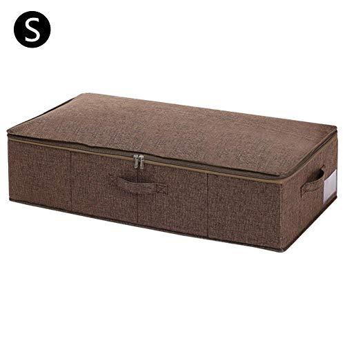 chinejaper Quilt Under Bed-opslagcontainer met deksel, vochtbestendige afwerkingdoos voor stoffen kleding, zolder opbergdoos, lichtgrijs