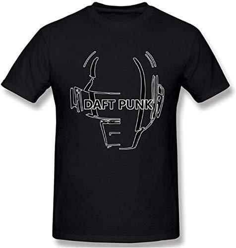 Asuuats JIkLQmvtb Daft Punk Creative Men's Basic Short Sleeve T-Shirt Colorful Print Graphic Tee Shirts,Black,X-Large