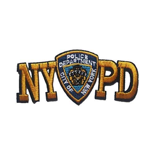 NYPD Embroidered Letters with Mini Iron On Patch Police Leo New York - F 83