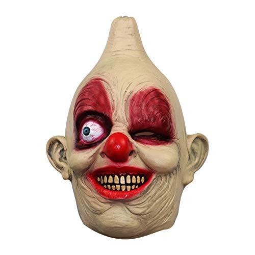 NA Gel Nail Halloween Einäugige Clown Maske/Parodie Horror Maske Prom Performance Show Dress Up Requisiten Clown Maske