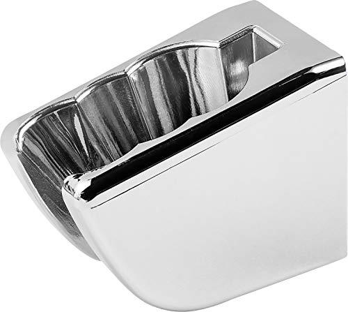 Cornat Brause-Wandhalter oval chrom / Duschkopfhalter / Halterung Handbrause / Badezimmer / TECB3383