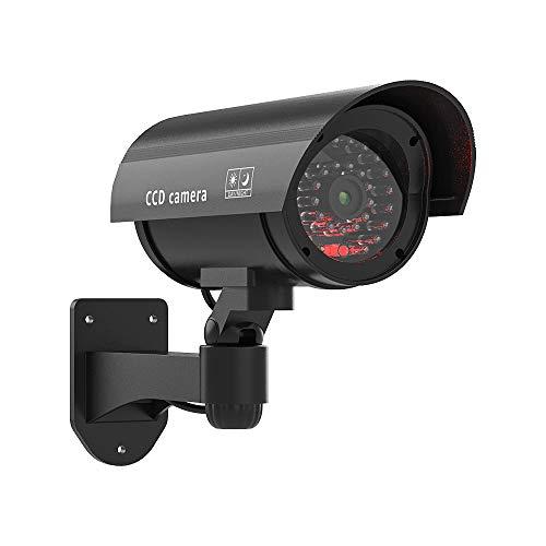 Dummy CCTV Kamera H.VIEW Gefälschte Überwachungskamera mit rot blinkendem Licht Heimüberwachungs-Überwachungskamera