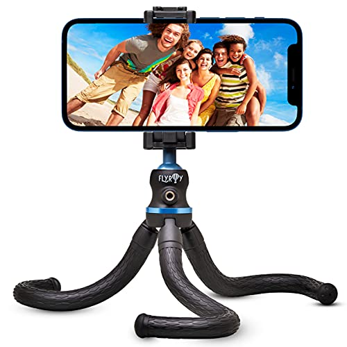 Flyroy   Treppiede Smartphone  Tripod Smartphone Phone Holder   Cavalleto Telefono Cellulari   Supporto Treppiedi Octopus Regolabile e Snodabile Adatto per Fotocamera,Iphone e ogni tipo di Cellulare