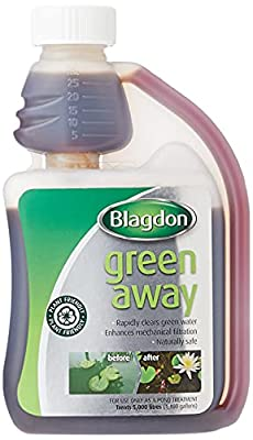 Blagdon Green Away for Ponds, Clears Green Water and Algae, Natural, Plant Friendly, Safe for Fish, 250ml