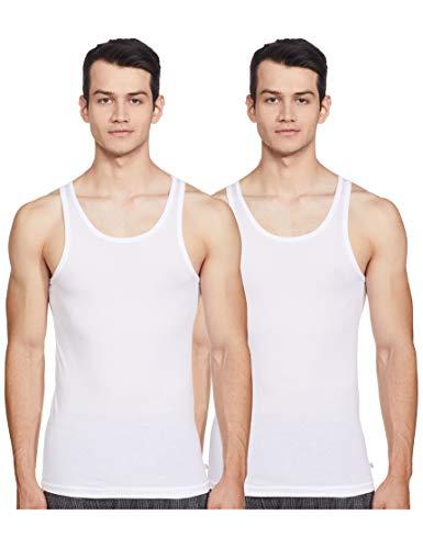 Jockey Men's Cotton Vest (Pack of 2) (8901326062005_8816-0210-WHITE White 90)