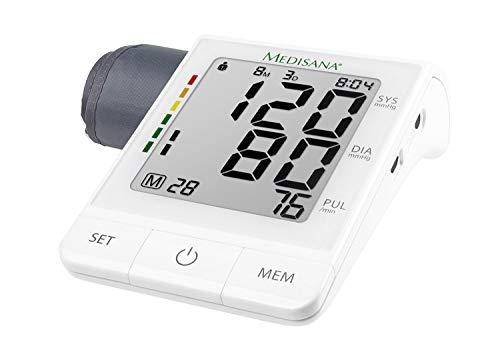 Medisana BU 530 connect Oberarm-Blutdruckmessgerät ohne Kabel, Arrhythmie-Anzeige, WHO-Ampel-Farbskala, für präzise Blutdruckmessung und Pulsmessung mit Speicherfunktion und App