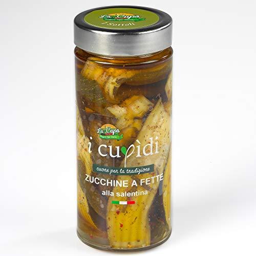 Zucchine a fette alla salentina in olio extravergine di oliva 300 grammi, I Cupidi, La Cupa società cooperativa agricola