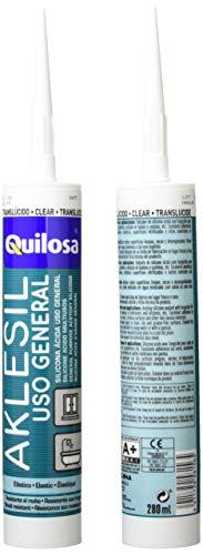 Quilosa T058156 Aklesil Silicona, Transparente, 280 ml