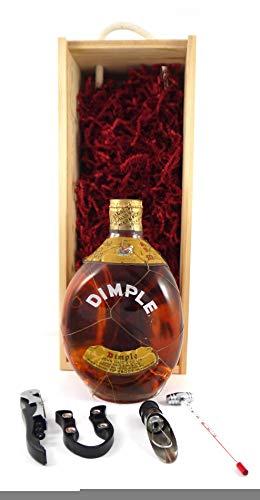 bottling John Haig Dimple Whisky (1950s bottling) Spring Cap in einer Geschenkbox, da zu 4 Wein Accessoires, 1 x 700ml