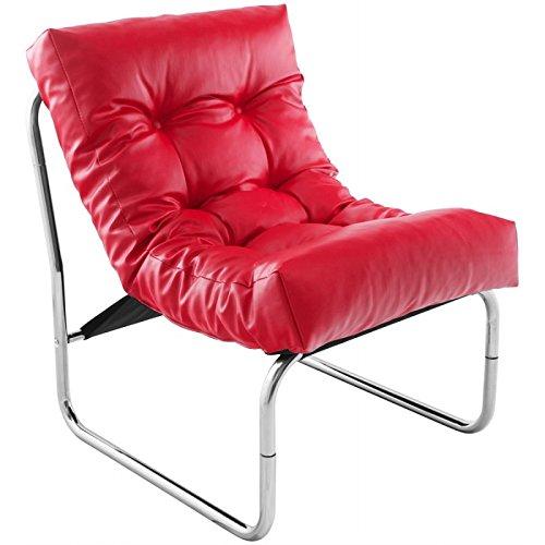 MK Fauteuil Design ISERE en Simili Cuir (Rouge)