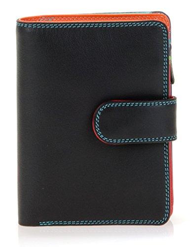 billetereo monedero de piel para mujer - mywalit - medium wallet/zip purse- 390-4- black pace