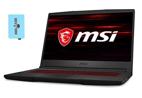 "MSI GF65 Thin 9SD-1028 Gaming and Entertainment Laptop (Intel i7-9750H 6-Core, 8GB RAM, 512GB SSD, GTX 1660 Ti, 15.6"" Full HD (1920x1080), WiFi, Bluetooth, Webcam, Win 10 Home) with Hub"