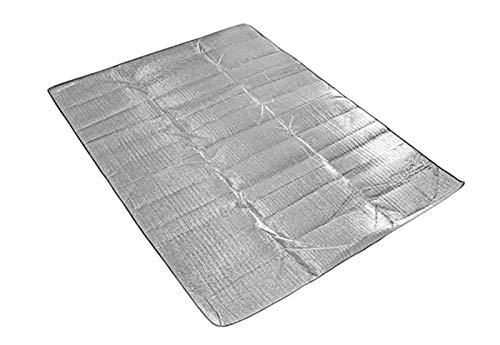 SASAU 2020 Nuevo EVA Al Aire Libre Matera de Camping Colchón de campaña Impermeable Aluminio Papel de Aluminio Pista de Dormir Picnic Mat X158D (Color : 180x200cm)