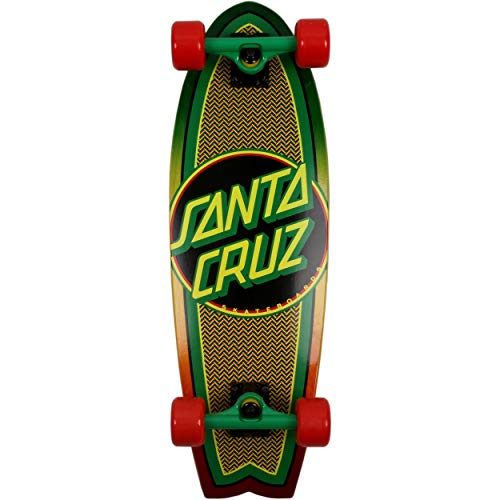 Santa Cruz Rasta Weave Dot 8.8in x 27.7in Shark Cruiser Skateboard