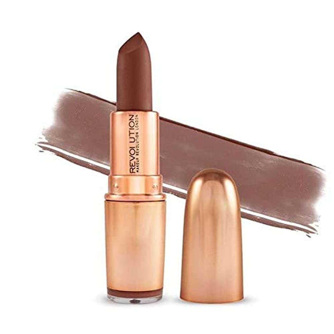 [Revolution ] 革命の象徴的なマットヌード口紅Inclanation - Revolution Iconic Matte Nude Lipstick Inclanation [並行輸入品]