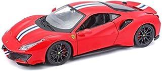 Bburago - 1/24 Scale Model Compatible with Ferrari 488 Pista (Red)