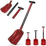 """Aluminum Snow Shovel 3 Piece Collapsible Design 21""""-32"""" Adjustable Portable Compact Sport Utility"""