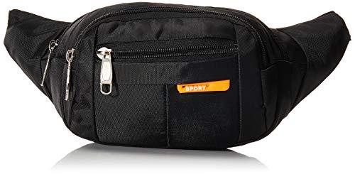 Cintura Pack Bolso de Paquete, Paquetes de la Cintura para Hombre y Mujer Cangurera Riñonera Waist Pack Bags Bolsas Cross-Body Cangureras de Viaje Casual Senderismo Ciclismo Aire libre (Negro) (Negro)