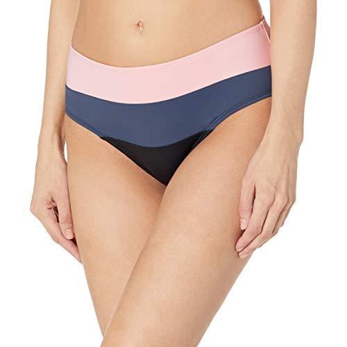 Skye Women's Standard Alessia Hi Waist Ruched Bikini Bottom Swimsuit, Tzigane Color Block Print, Medium