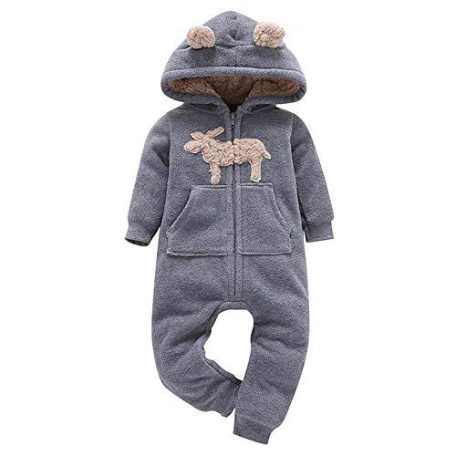 Bebés Invierno Lana Mono Trajes,Infantiles Bebés Niñas Niños Gruesas Mameluco Mono con Capucha Sudaderas Trajes por Venmo