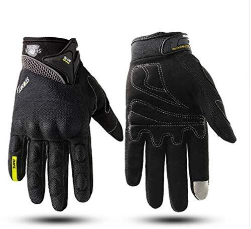 Dgtyui Guantes de Moto Impermeables para Hombres y Mujeres con Pantalla táctil de Invierno cálido Guantes de Moto Off-Road Guantes de esquí al Aire Libre -Negro X XXL