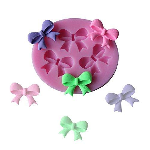 J * Myi Mini Nœud Moule en silicone pour savon Chocolat Candy Décoration de gâteaux Moules à gâteaux/cupcakes Fleur Pâte à sucre décoration