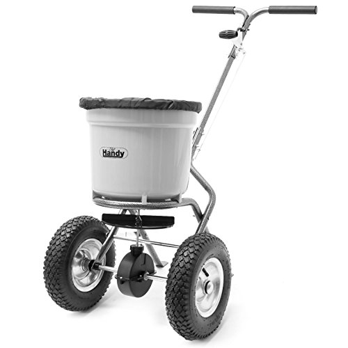 The Handy 50lb Wheeled Lawn and Fertiliser Spreader ( Not For Use With Rock Salt)