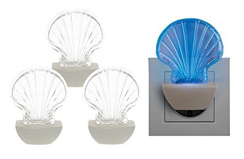 Trango 3er Pack LED-Steckerlicht TG11-M41 Wandlampe, Steckdosenlampe, Orientierungslicht, Kinderlicht, Nachtlicht, Steckdose Sicherheitslicht